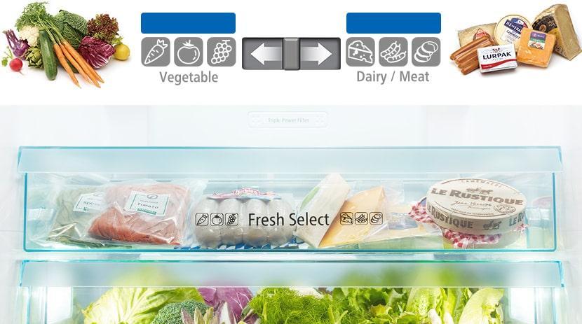 Tủ lạnh Hitachi WB640VGV0 GBK ngăn chứa thay đổi linh hoạt