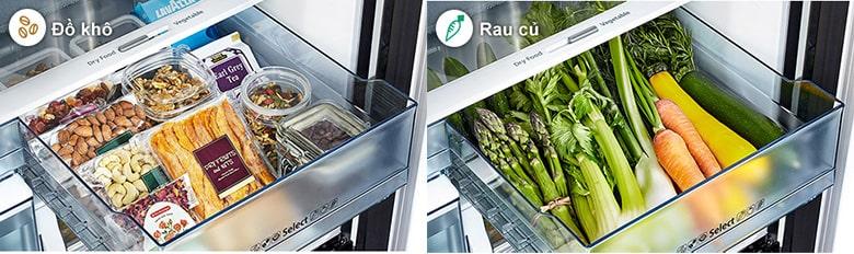 Tủ lạnh Hitachi R-WB640VGV0X MIR ngăn tùy chỉnh có thể để được đồ khô