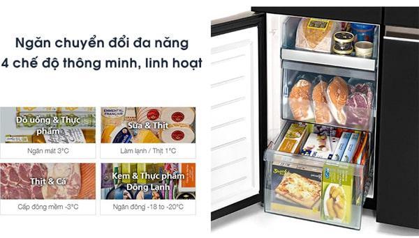 Tủ lạnh Hitachi R-WB640VGV0X MIR ngăn chuyển đổi đa năng 4 chế độ thông minh, linh hoạt