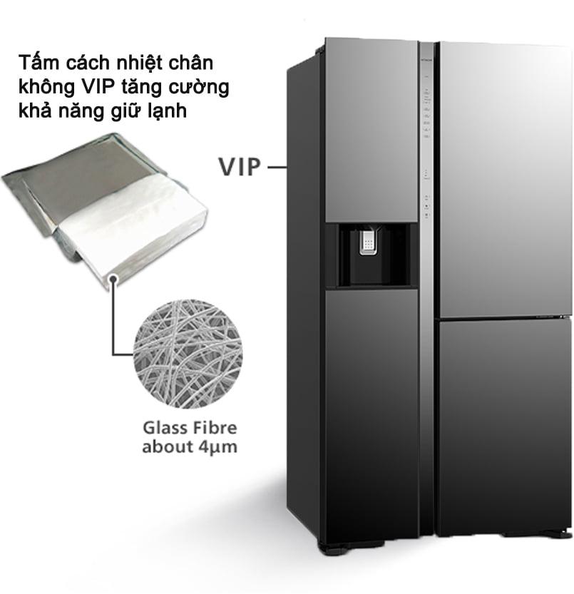 Tủ lạnh Hitachi R-MY800GVGV0 MIR Multidoor 3 cánh 569 lít tấm cách nhiệt chân không hiện đại