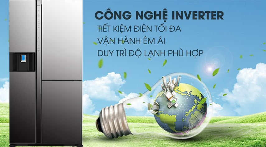 Tủ lạnh Hitachi R-MY800GVGV0 MIR Multidoor 3 cánh 569 lít công nghệ inverter tiết kiệm điện tối đa
