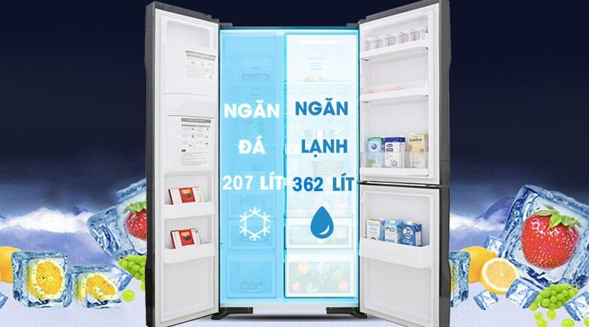 Tủ lạnh Hitachi R-MY800GVGV0 MIR Multidoor 3 cánh 569 lít dung tích lớn