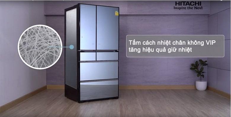Tủ lạnh Hitachi R-G520GV XK tấm cách nhiệt chân không VIP