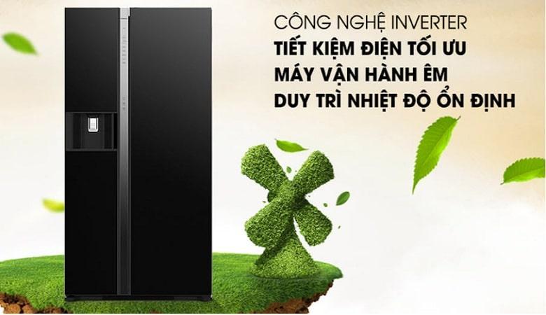 Tủ lạnh Hitachi R-SX800GPGV0 GBK công nghệ inverter tiết kiệm điện tối ưu
