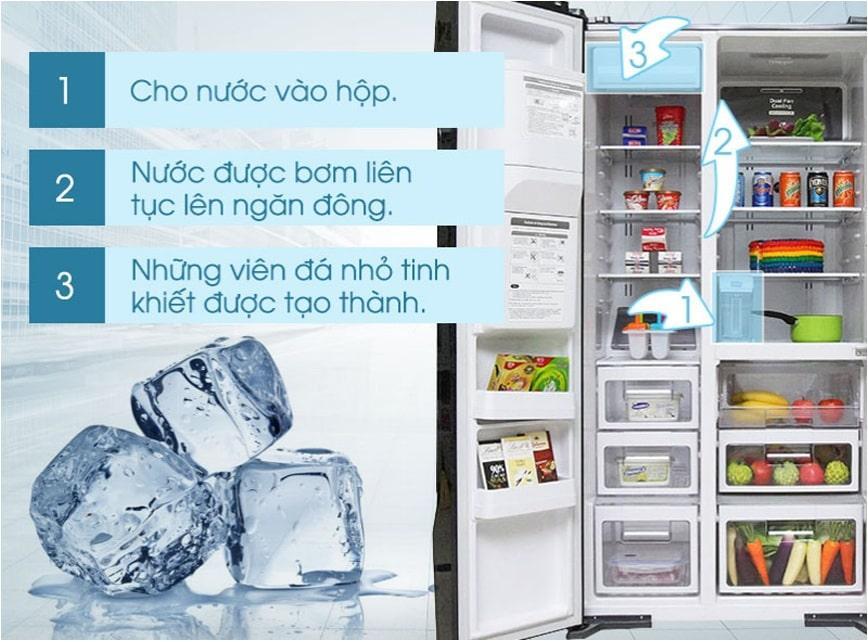 Tủ lạnh Hitachi R-SX800GPGV0 GBK làm đá tự động tiện lợi