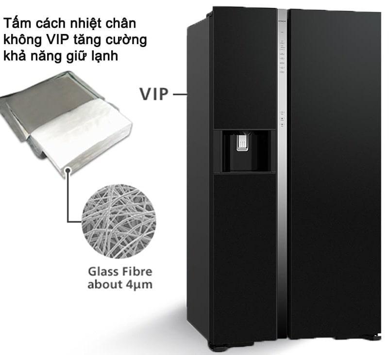 Tủ lạnh Hitachi R-SX800GPGV0 GBK tấm cách nhiệt chân không VIP