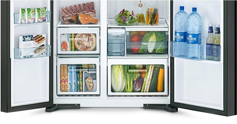 Tủ lạnh Hitachi R-SX800GPGV0 GBK ngăn rau củ quả lớn
