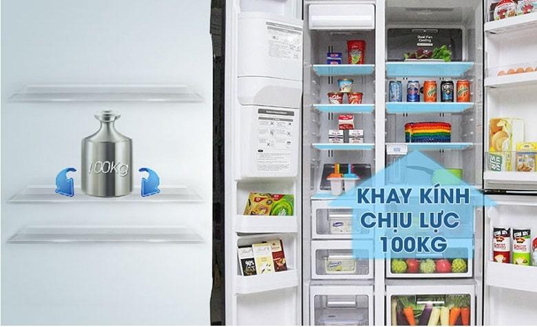 Tủ lạnh Hitachi R-SX800GPGV0 GBK hệ thống khay kính chịu lực lớn