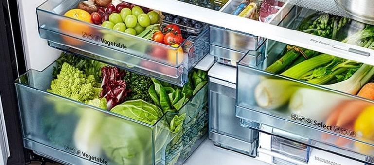 Tủ lạnh Hitachi R-WB640VGV0X MGW ngăn rau và củ quả riêng biệt