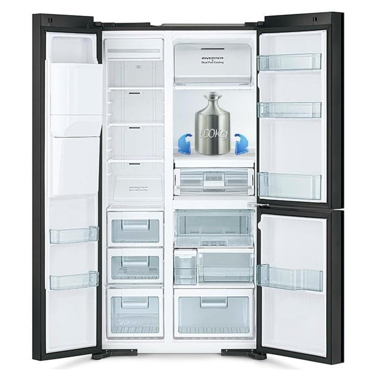 Tủ lạnh Hitachi R-MX800GVGV0 GBK khay kính chịu lực bền bỉ
