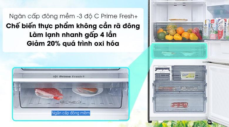 Tủ lạnh Panasonic BX471GPKV ngăn cấp đông mềm -3 độ C