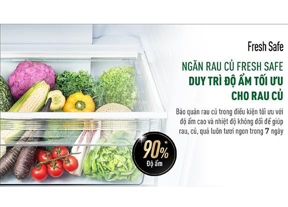 Tủ lạnh Panasonic BX471WGKV ngăn rau củ quả FRESH SAFE duy trì độ ẩm tối ưu cho rau củ