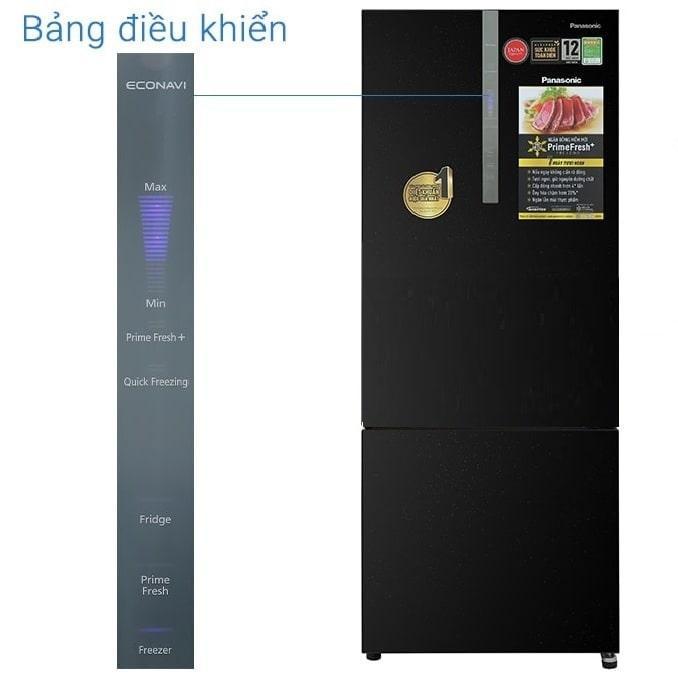 Tủ lạnh Panasonic BX471WGKV trang bị bảng điều khiển bên ngoài