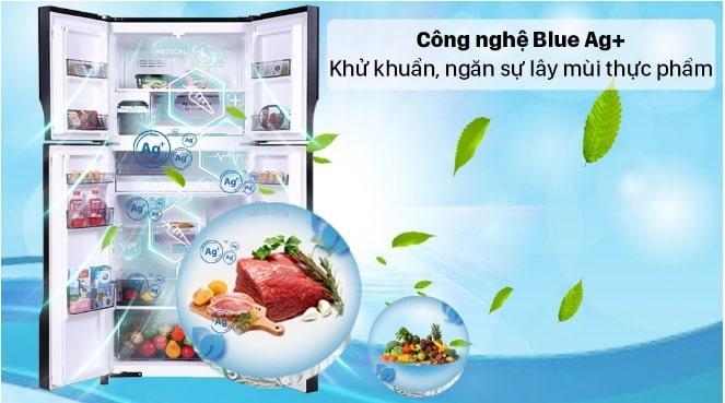 Tủ lạnh Panasonic DZ601VGKV công nghệ Blue Ag+ khử khuẩn, ngăn sự lây mùi thực phẩm