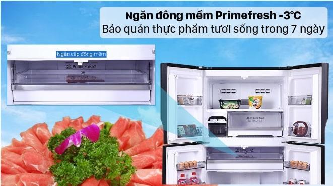 Tủ lạnh Panasonic DZ601VGKV trang bị ngăn đông mềm