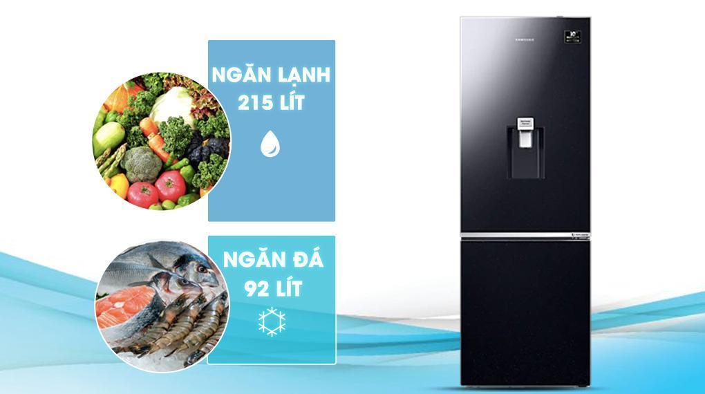 Tủ lạnh Samsung Inverter 307 lít RB30N4190BU/SV - Phù hợp cho gia đình từ 3 - 4 người