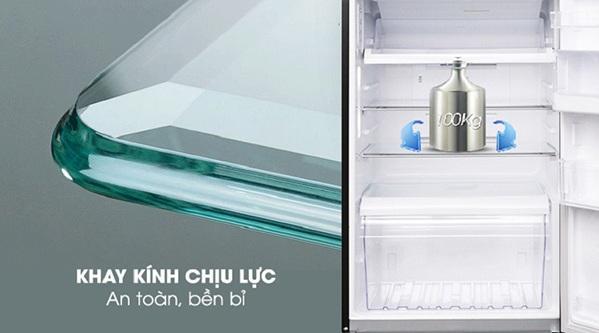 Tủ lạnh Samsung RB27N4190BU khay kính chịu lực an toàn, bền bỉ