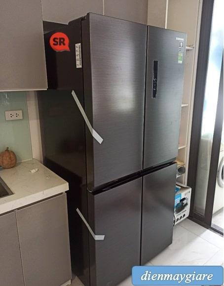 Tủ lạnh Samsung RF48A4000B4 lắp đặt thực tế