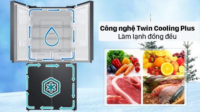 công nghệ Twin Cooling Plus làm lạnh đồng đều