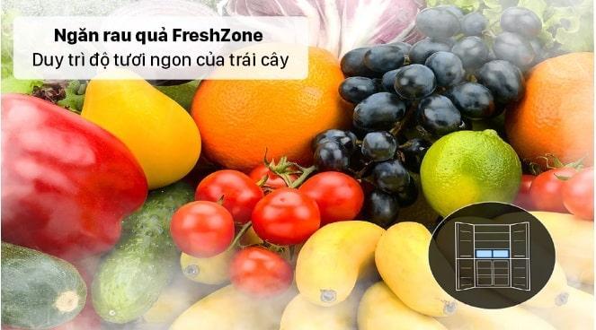 Tủ lạnh Samsung RF48A4000B4 ngăn rau quả FreshZone duy trì độ tươi ngon