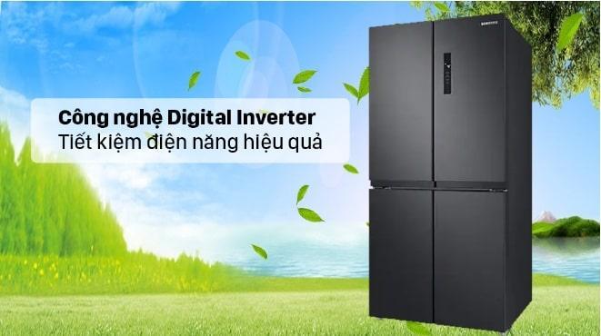 Tủ lạnh Samsung RF48A4000B4 trang bị công nghệ inverter tiết kiệm điện hiệu quả