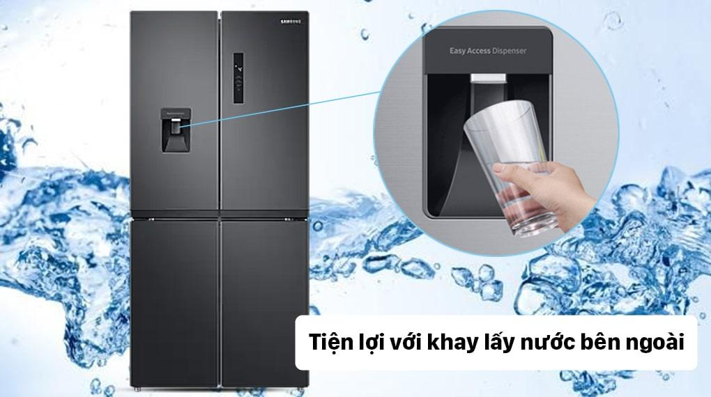 Tủ lạnh Samsung RF48A4010B4 tiện lợi với lấy nước bên ngoài