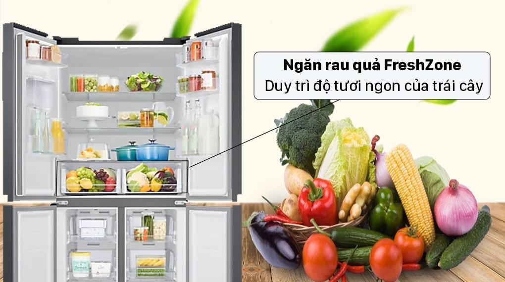 Tủ lạnh Samsung RF48A4010B4 ngăn rau quả FreshZone duy trì độ tươi ngon