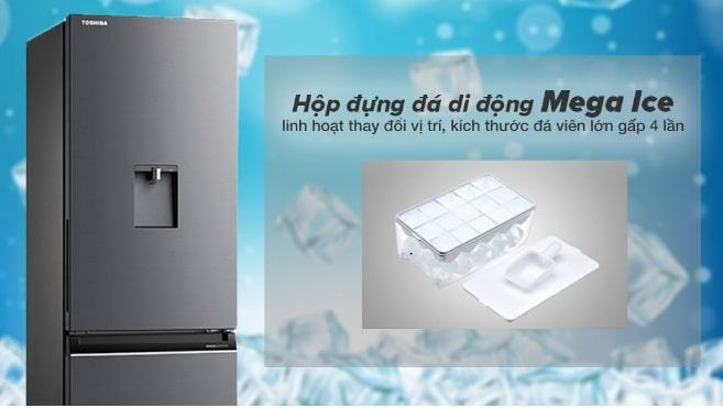 Tủ lạnh Toshiba GR-RB405WE-PMV(06)-MG hộp đựng đá di động