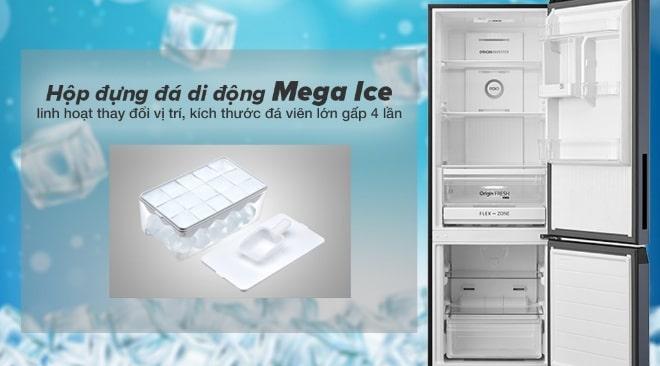 Tủ lạnh Toshiba GR-RB410WE-PMV(37)-SG hộp đá đựng di động mega Ice