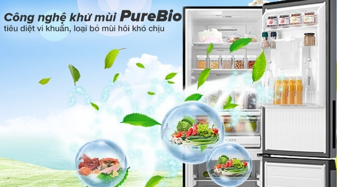 công nghệ khử mùi PureBio tiêu diệt vi khuẩn