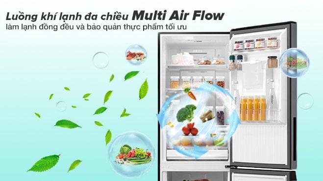 luồng khí lạnh đa chiều Multi Air Flow làm lạnh đồng đều