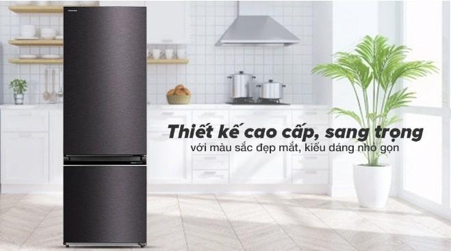 Tủ lạnh Toshiba GR-RB410WE-PMV(37)-SG thiết kế cao cấp, sang trọng