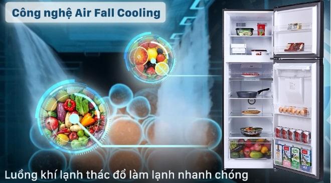 công nghệ Air Fall Cooling luồng khí lạnh thác đồ làm lạnh nhanh chóng