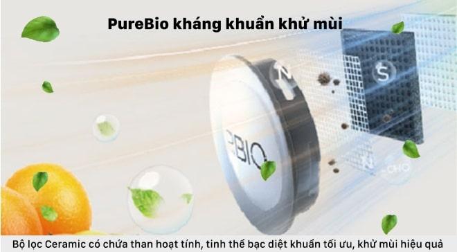 purebio kháng khuẩn khử mùi hiệu quả