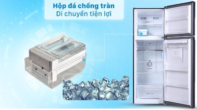Tủ lạnh Toshiba GR-RT435WE-PMV(06)-MG hộp đá di động chống tràn