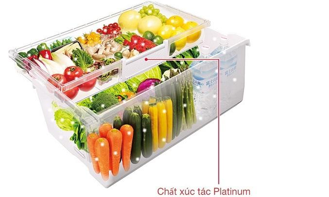 Tủ lạnh Hitachi Inverter 536 lít R-G520GV (X) - Ngăn rau quả