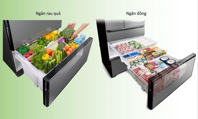 Tủ lạnh Hitachi 589 lít R-G570GV (XT)Cấp đông tự động