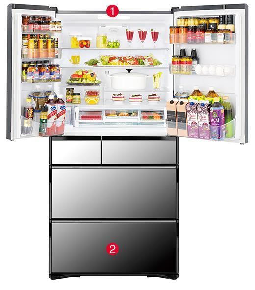 Tủ lạnh Hitachi 657 Lít R-G620GV (XT)-2