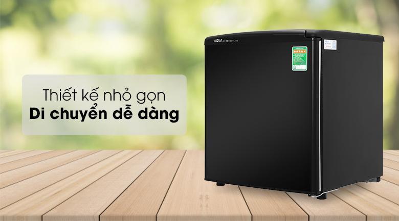 Tủ lạnh Aqua 50 lít AQR-D59FA(BS)-Gam màu sang trọng, thiết kế hình vuông nhỏ gọn