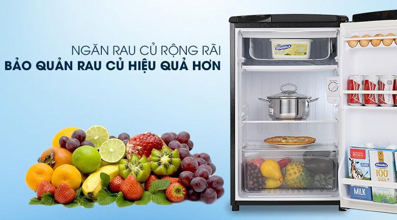 Tủ lạnh Aqua AQR-D99FA (BS) Ngăn rau củ lớn