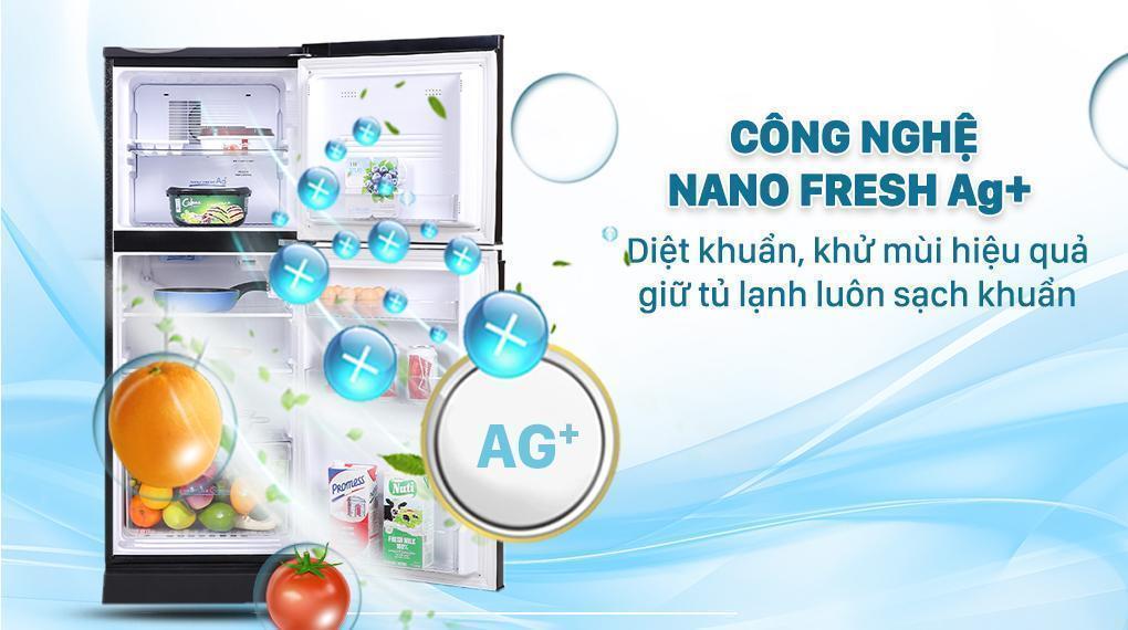 Tủ lạnh Aqua 130 lít AQR-T150FA(BS) - Công nghệ Nano Fresh Ag diệt khuẩn hiệu quả