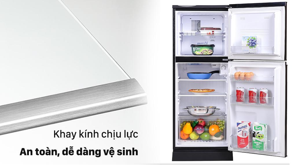 Tủ lạnh Aqua 130 lít AQR-T150FA(BS) - Khay kính cứng cáp chịu lực tốt