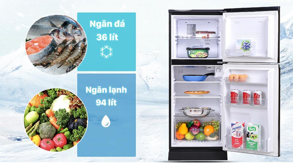 Tủ lạnh Aqua 130 lít AQR-T150FA(BS) - Dung tích 130 lít phù hợp với gia đình 1 - 2 người