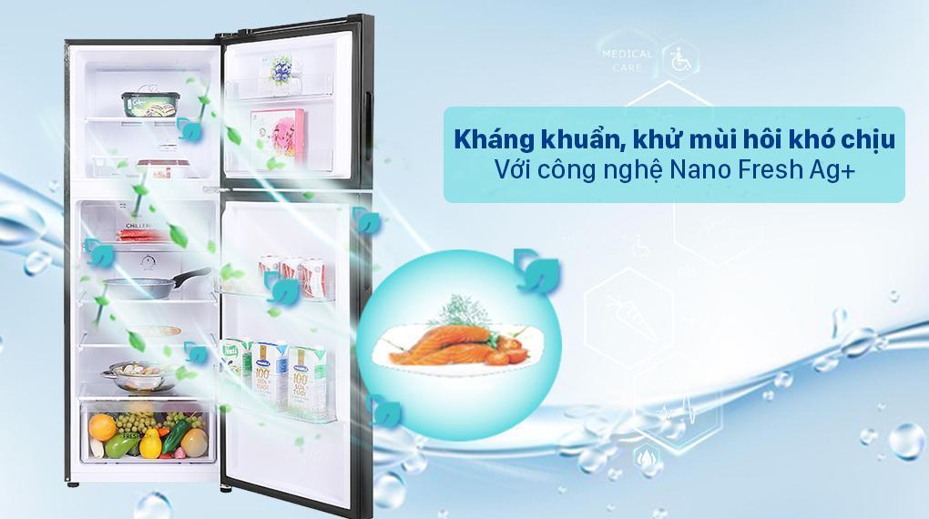 Tủ lạnh Aqua Inverter 211 lít AQR-T238FA(FB) - Công nghệ Nano Fresh Ag