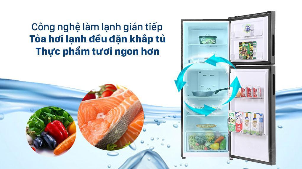 Tủ lạnh Aqua Inverter 212 lít AQR-T239FA(HB) - Hệ thống làm lạnh gián tiếp