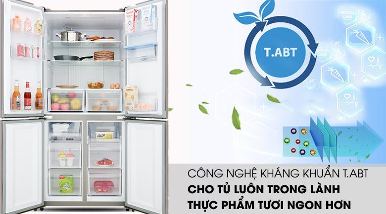 Công nghệ thông minh T.ABT - Tủ lạnh Aqua Inverter 456 lít AQR-IGW525EM GB