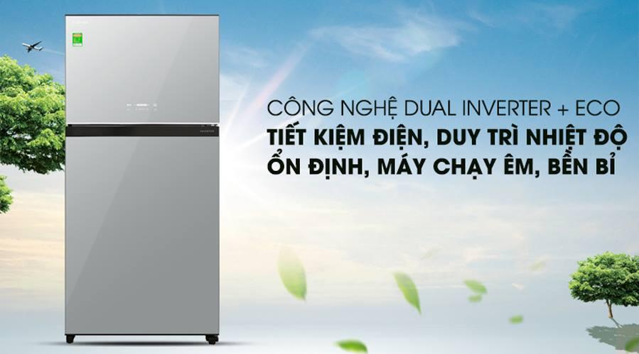 công nghệ dual inverter+eco tiết kiệm điện hiệu quả
