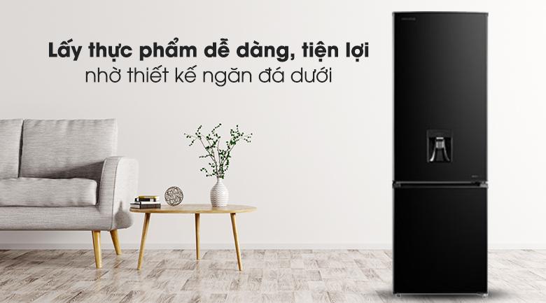 Tủ lạnh Toshiba GR-RB345WE-PMV(30)-BS - thiết kế ngăn đá dưới