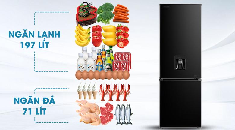 Tủ lạnh Toshiba GR-RB345WE-PMV(30)-BS - Dung tích