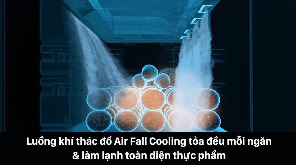 luồng khí thác đồ Air Fall Cooling tỏa đều mỗi ngăn